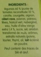 Pur Soup' Velouté de Légumes du Soleil - Ingrédients - fr