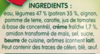 Velouté de Potiron - Ingredients
