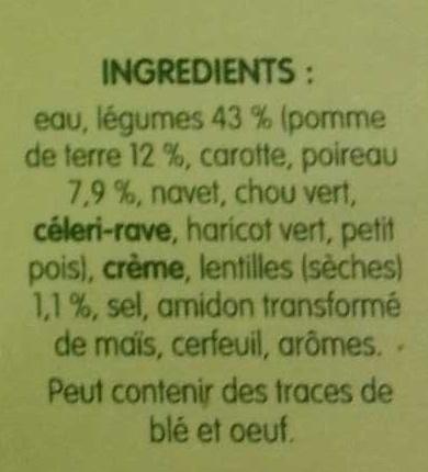 PurSoup' Mouliné de Légumes d'Hiver - Ingrédients - fr
