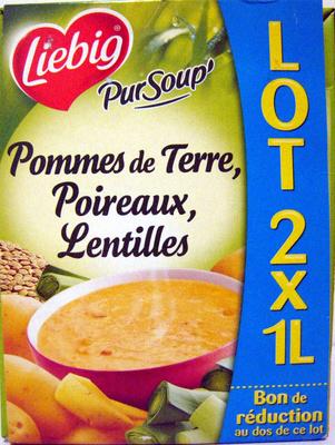 Pommes de Terre, Poireaux, Lentilles (lot de 2 x 1 L) - Product - fr