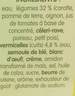 Légumes et vermicelles - Ingredients - fr