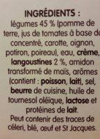 Délice de Légumes et Langoustine - Ingrediënten