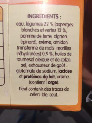 Les Gourmandes Duo D'asperges éclats De Morilles - Ingrediënten - fr