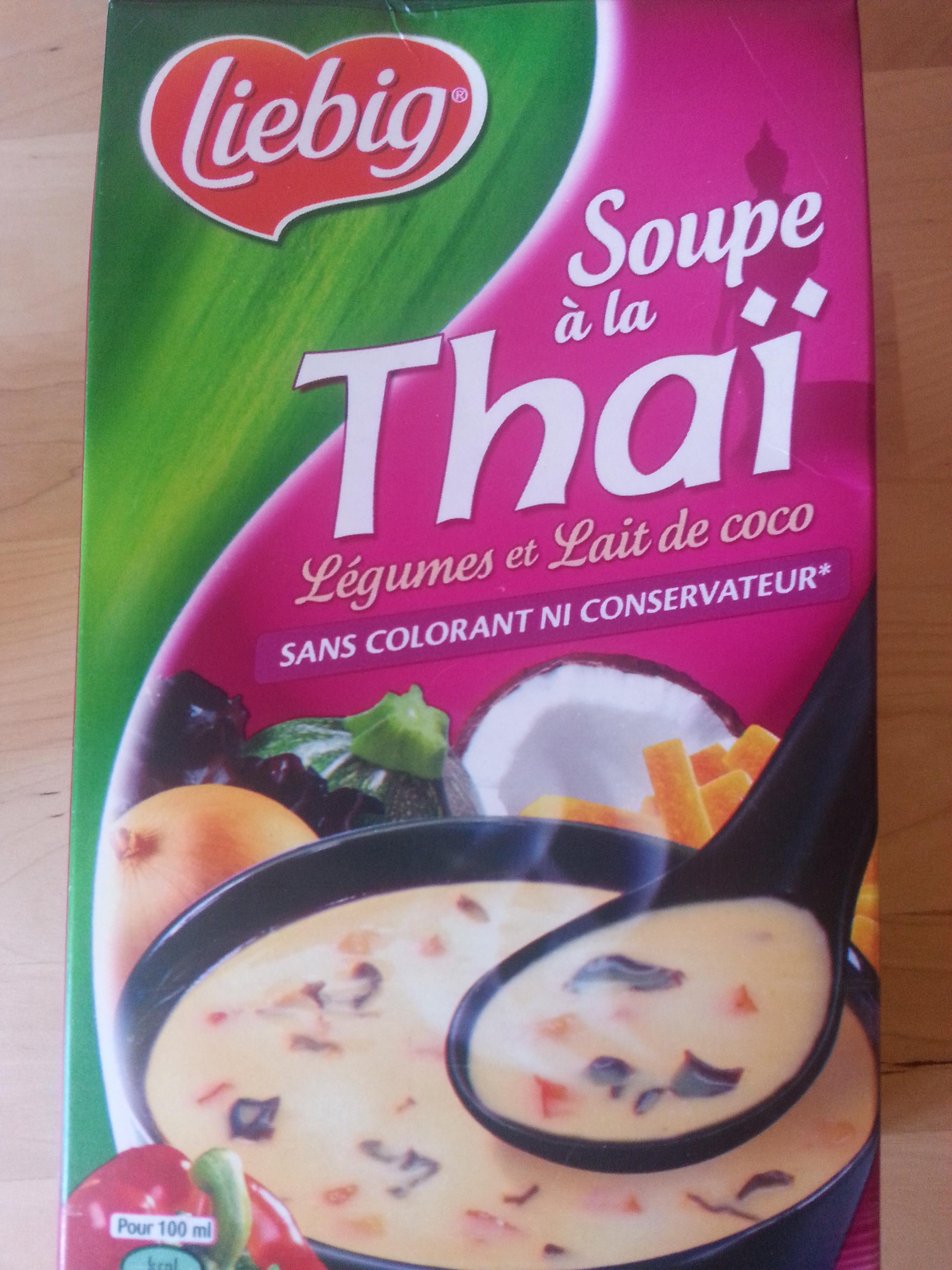 Soupe à la thaï, légumes et lait de coco - Produit - fr