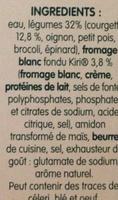 Légumes et Kiri - Ingrédients