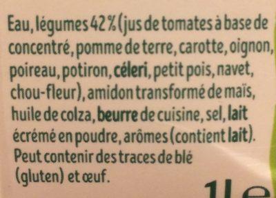 PurSoup' - Velouté de 10 Légumes - Ingredients - fr