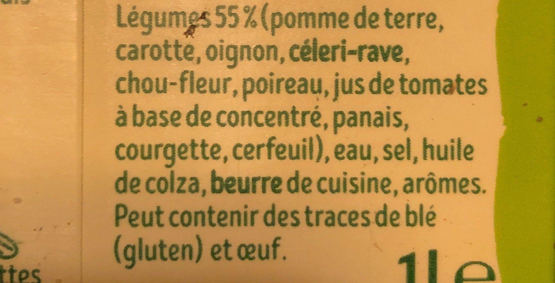 Mouliné de 10 légumes - Ingrediënten