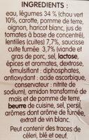 Soupe à la Campagnarde Lentilles et Saucisse fumée - Ingredients