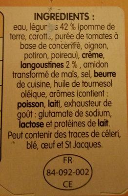 Délice de Légumes et Langoustines - Ingrediënten - fr