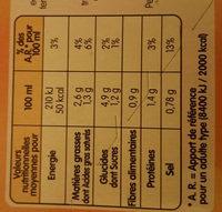 Délice de Légumes et Langoustines - Informations nutritionnelles - fr