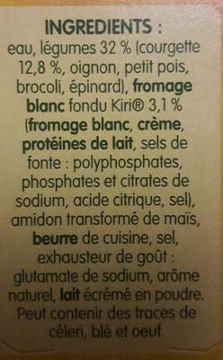 Doux Plaisirs Légumes au Kiri - Ingrediënten - fr