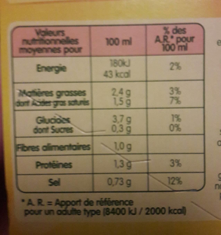 Doux Plaisirs Légumes au Kiri - Voedingswaarden - fr