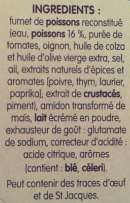 Soupe de poissons aux aromates - المكونات - fr