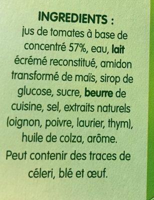 Velouté de Tomates - Ingredients
