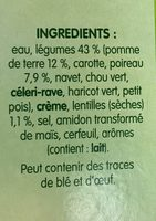 Pur soup' - Ingredients - fr
