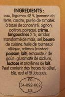 Délice de Légumes & Langoustines - Ingredients