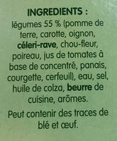 Mouliné de 10 légumes - Ingredients - fr