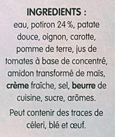 Mouliné au Potiron - Ingrédients - fr