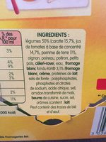 Legumes Kiri - Ingredients - fr