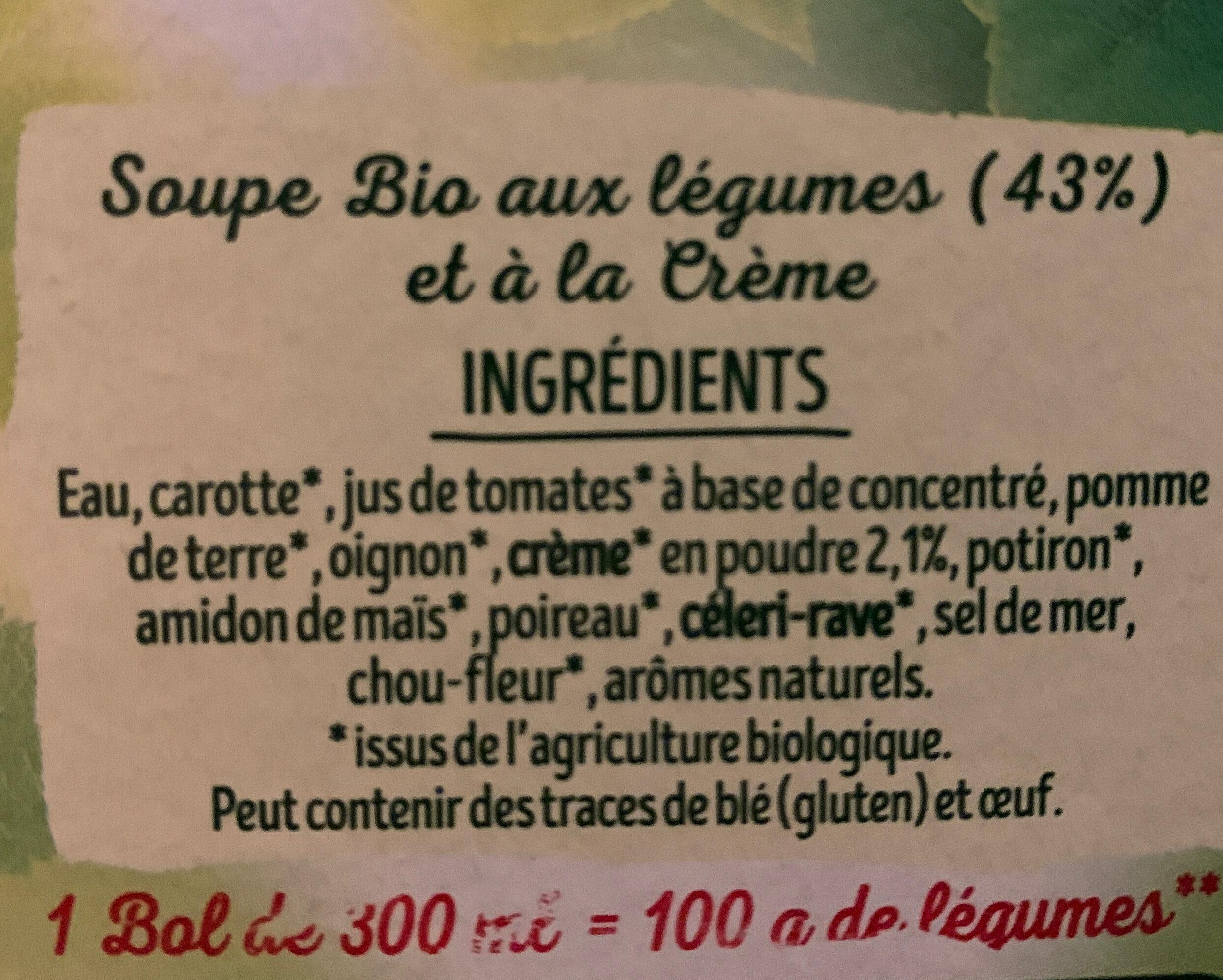 Velouté de légumes - Ingrediënten - fr