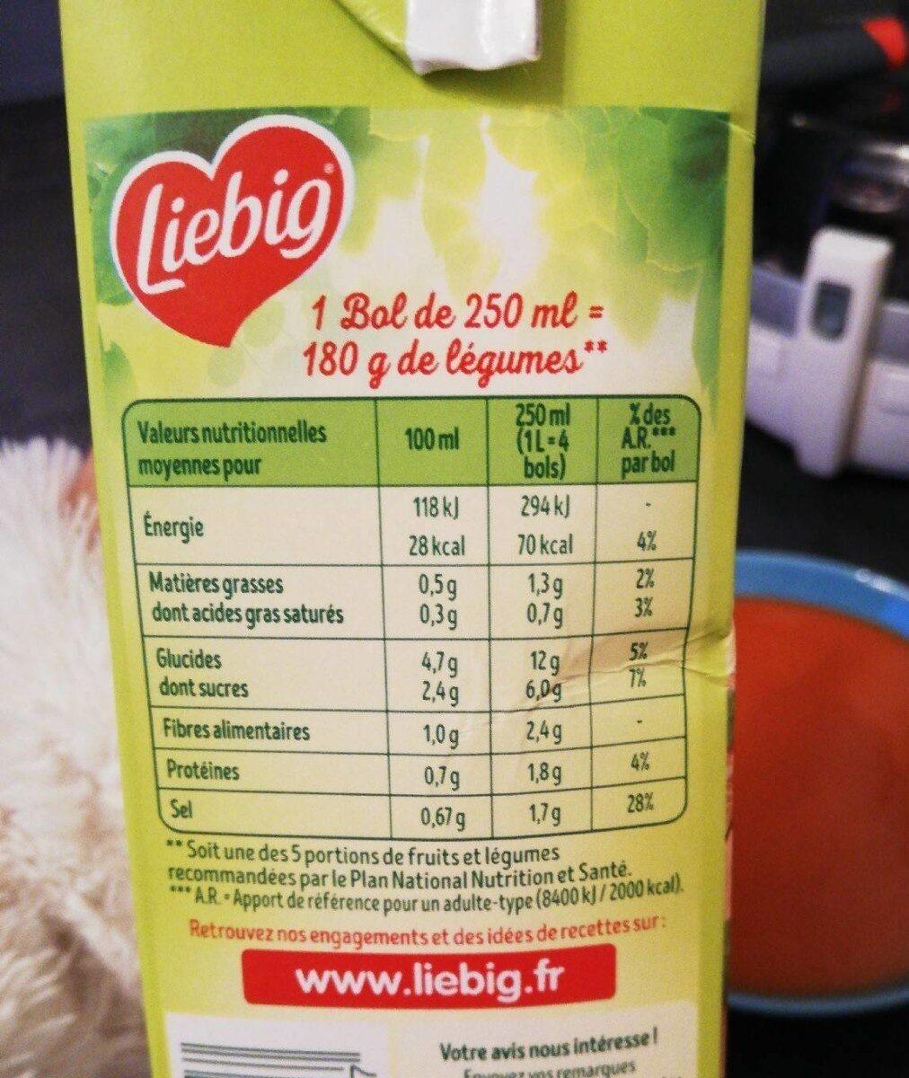 Velouté Tomates & Pointe d'origan BIO - Nutrition facts