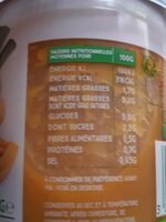 Cup 7 légumes & fines herbes - Nutrition facts
