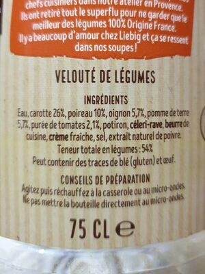 Velouté 5 Légumes - Ingredients