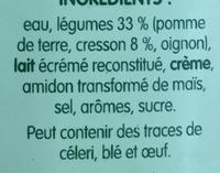 PurSoup' Velouté de cresson - 成分 - fr
