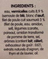 Poule au Pot Vermicelles - Ingredients