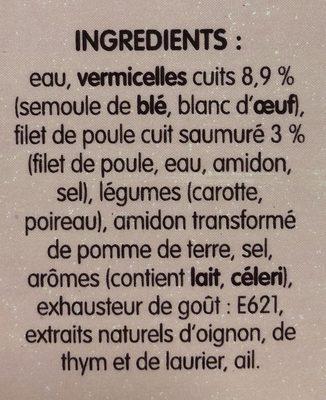 Poule au Pot Vermicelles - Ingrediënten