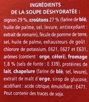 Gratinée oignons et croûtons - Ingrediënten