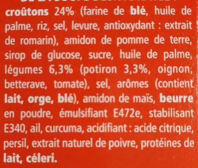 Potiron & croûtons - Ingrediënten