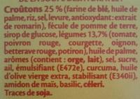 Légumes du Soleil et croûtons extra-craquants - Ingredients