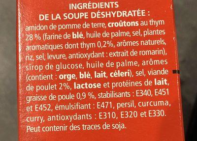 Poulet & croûtons - Ingredients - fr