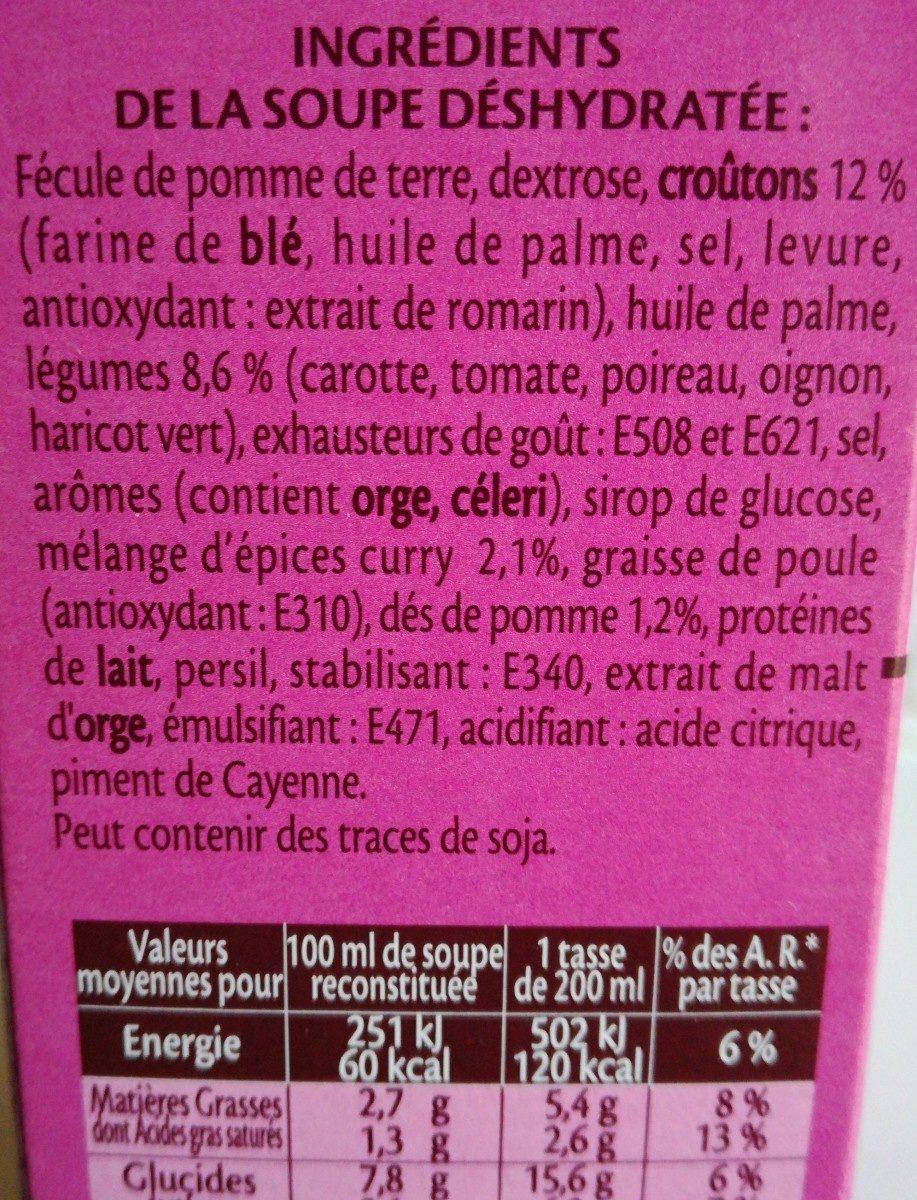 Soupe à l'indienne - Ingrediënten - fr