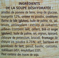 Soupe courgettes et chèvre - Ingredienti - en