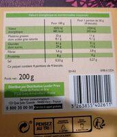 Biscuits petits dejeuner - Nutrition facts