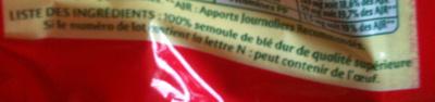 Alphabets - Ingrédients - fr