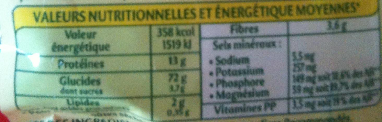 Alphabets - Informations nutritionnelles - fr