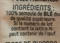 Coquillettes - Ingredients - fr