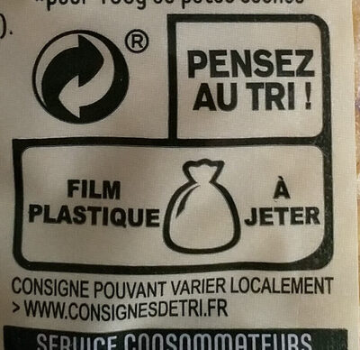 Coquillettes - Recycling instructions and/or packaging information - fr