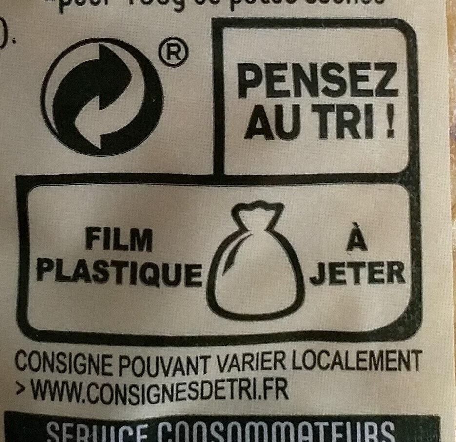 Coquillettes - Instruction de recyclage et/ou informations d'emballage - fr