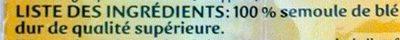 Pâtes Coudes Rayés - Ingrédients - fr