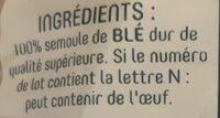 Filière blé responsable - Ingrédients - fr