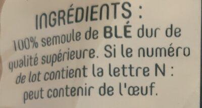 Torti - Ingredients - fr