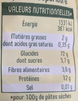 Torti - Nutrition facts - fr