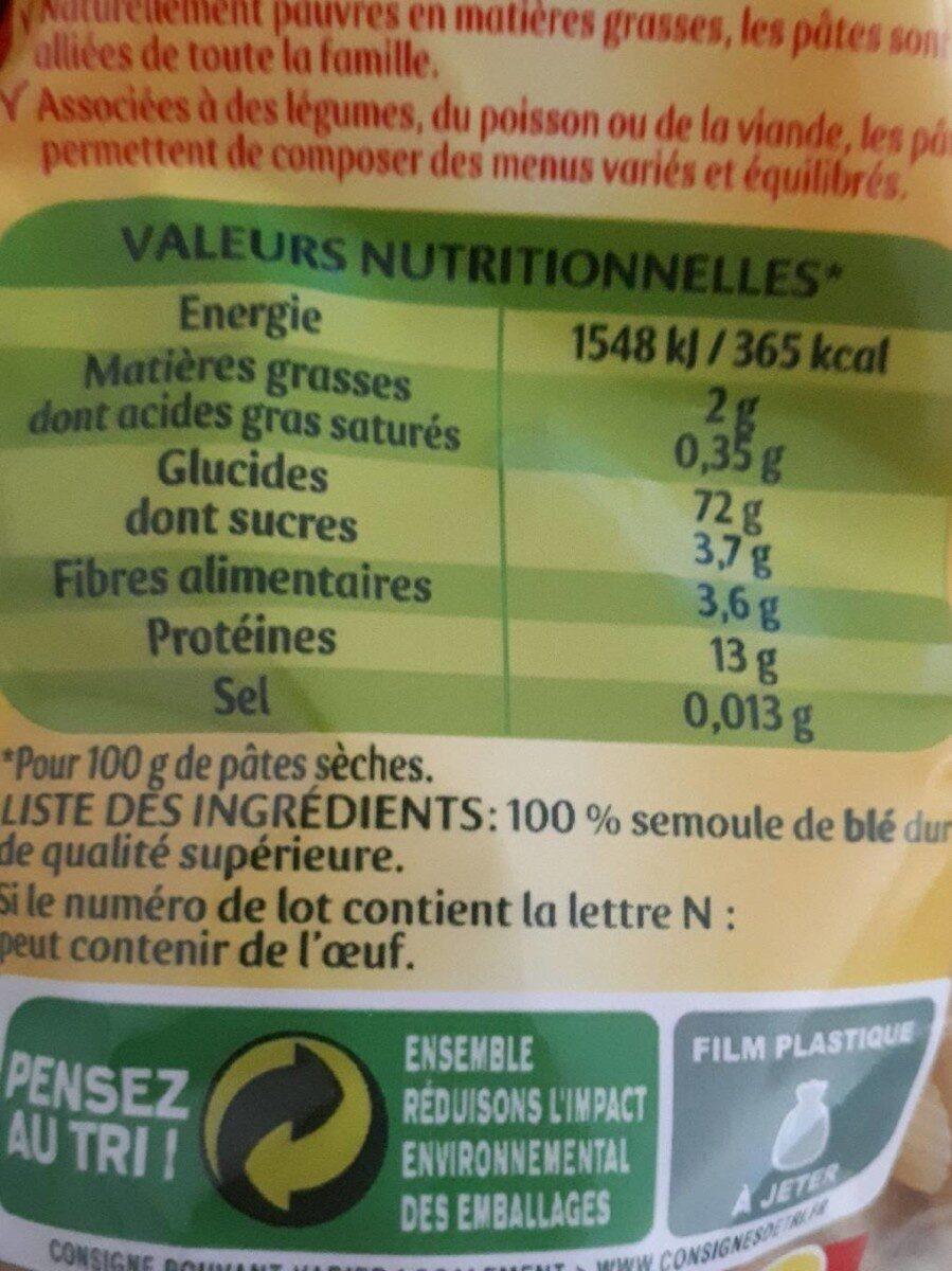Panzani penne rigate - Informations nutritionnelles - fr