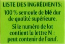 Panzani spaghetti - Ingredients - fr