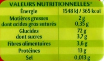 Spaghetti N°3 - Nutrition facts