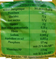 Macaroni (Maxi Format) - Nutrition facts